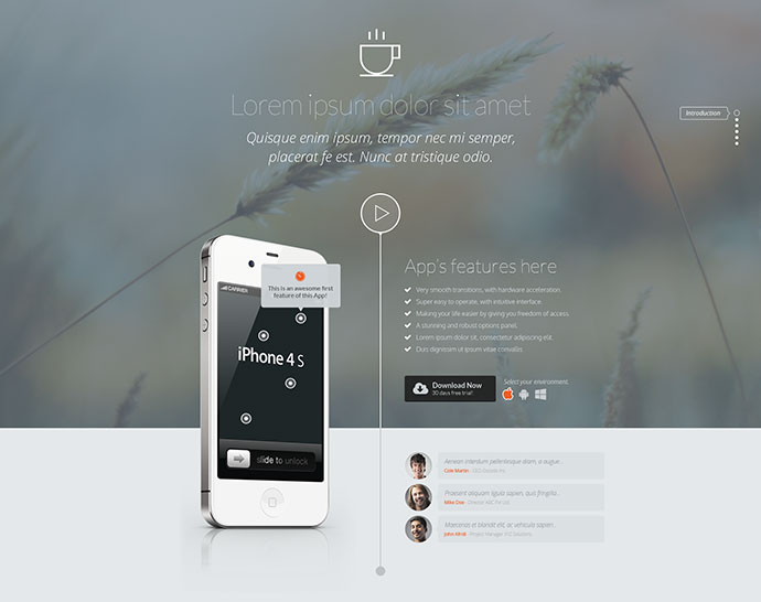 Aplant Responsive HTML5 Landing Page