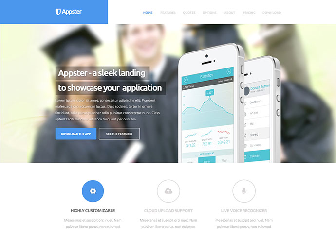 Appster - Clean & Minimal App Landing Page HTML5