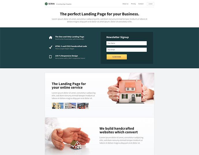 Serva | Responsive Multi-Purpose Landing Page