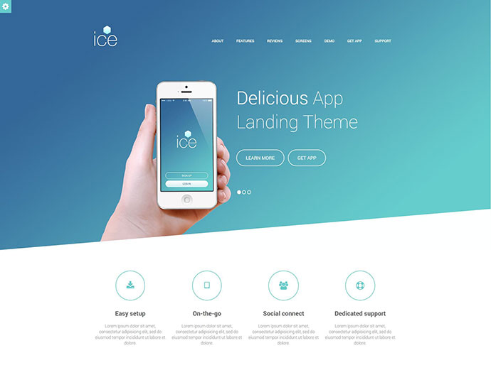 Delicious - Responsive App Landing HTML Theme