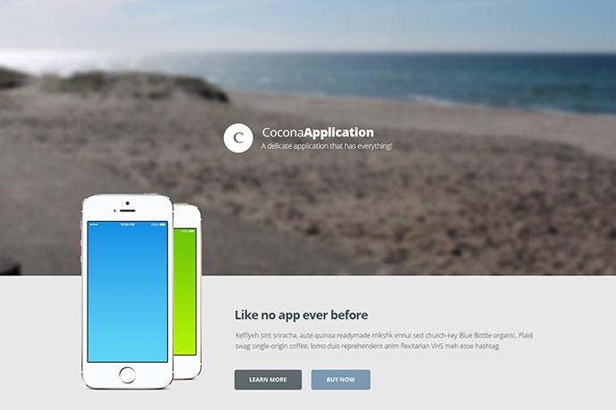 Cocona - Responsive Landing Page