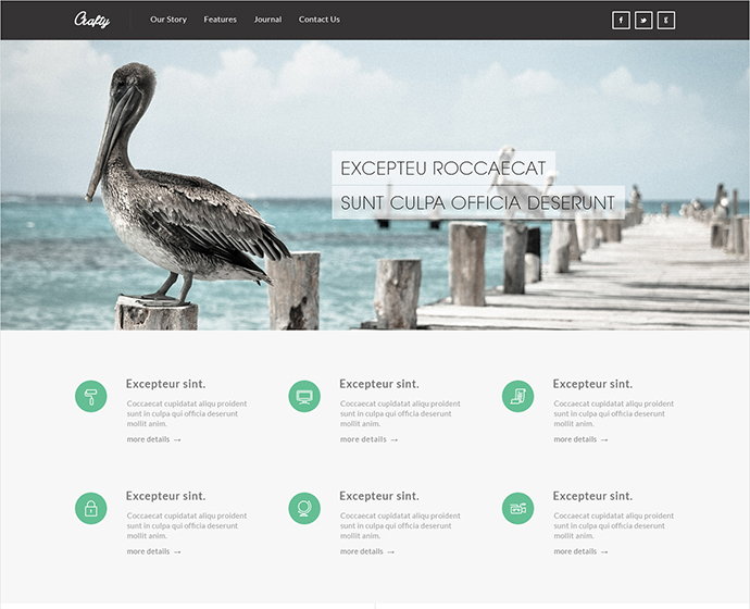 Free High Quality Flat HTML Website Templates Web Graphic - Responsive website templates free download html5 with css3