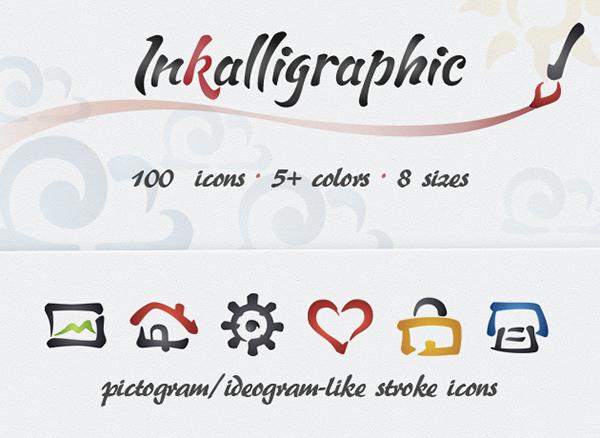 free-inkalligraphic-icon-set-12