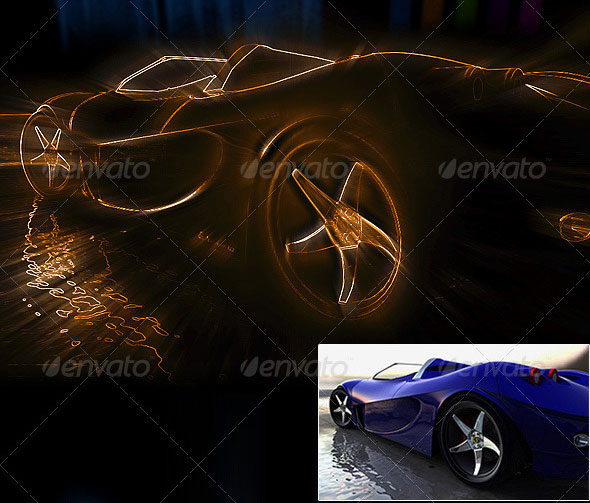 Neon Effect Photoshop Action