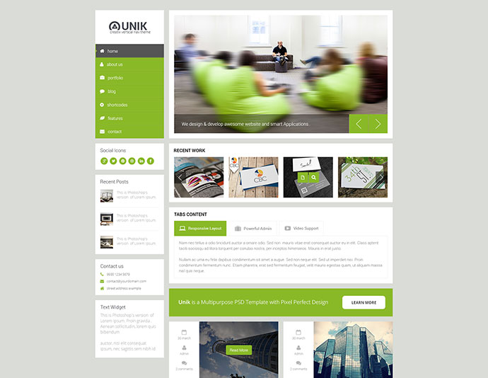 Unik - Ultimate HTML5 Template