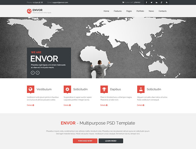 Envor Fully Multipurpose Template