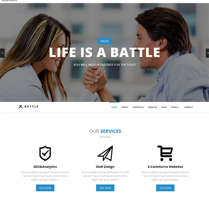 Battle - HTML5 Responsive Template