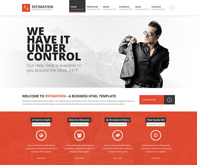 Estimation - Responsive Business HTML Template
