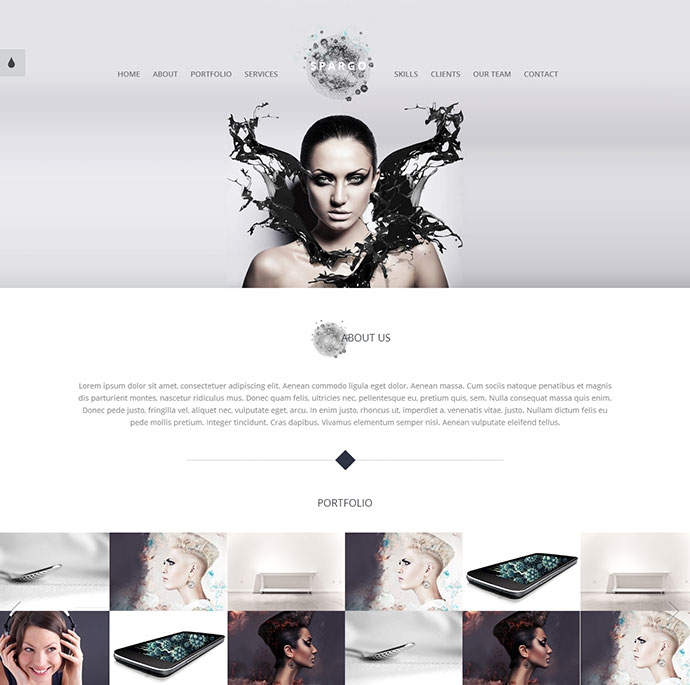 Spargo - Responsive Single Page Template