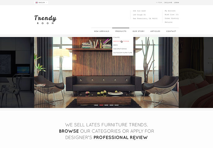 Trendy Room - Elite E-Commerce HTML Template