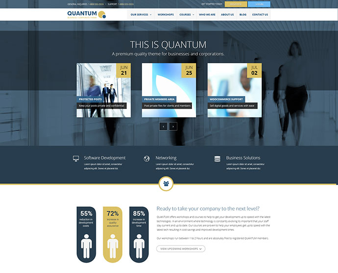 QUANTUM - Responsive Business Template