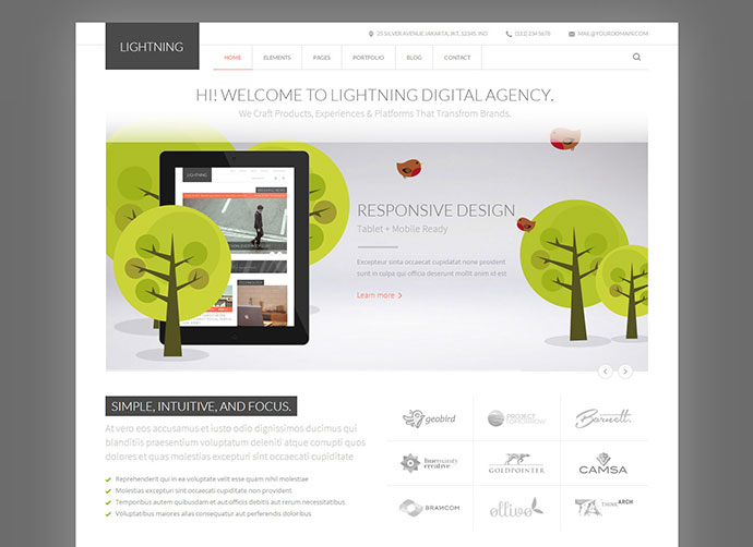 Lightning - Multipurpose Minimalist HTML Template