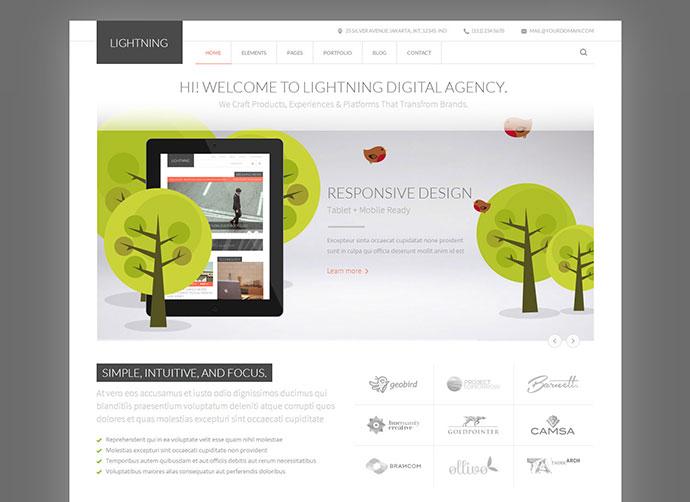 Lightning - Multipurpose Minimalist HTML Template