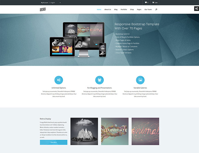 43 professionally designed html5 business website templates web zero responsive bootstrap html template flashek Images