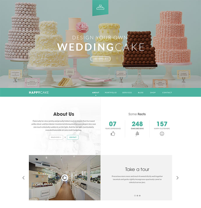 HappyCake - Onepage Business HTML