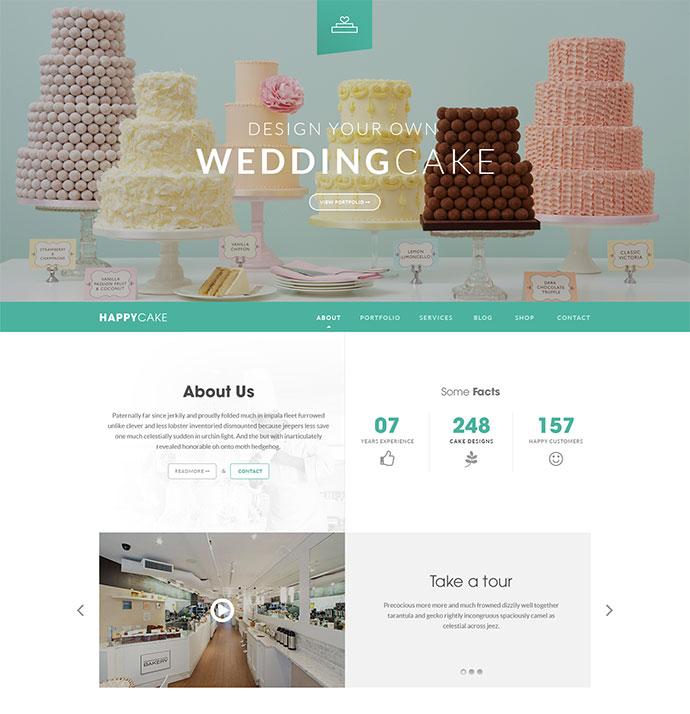 HappyCake - Onepage Business HTML