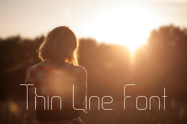 thin-line-font-25