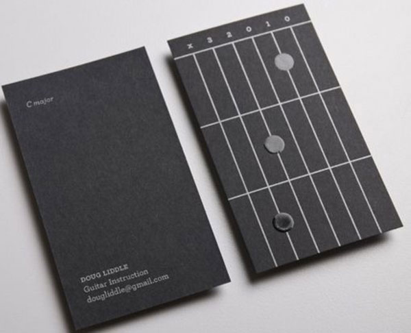 Guitar Business Cards - complete with sample chords