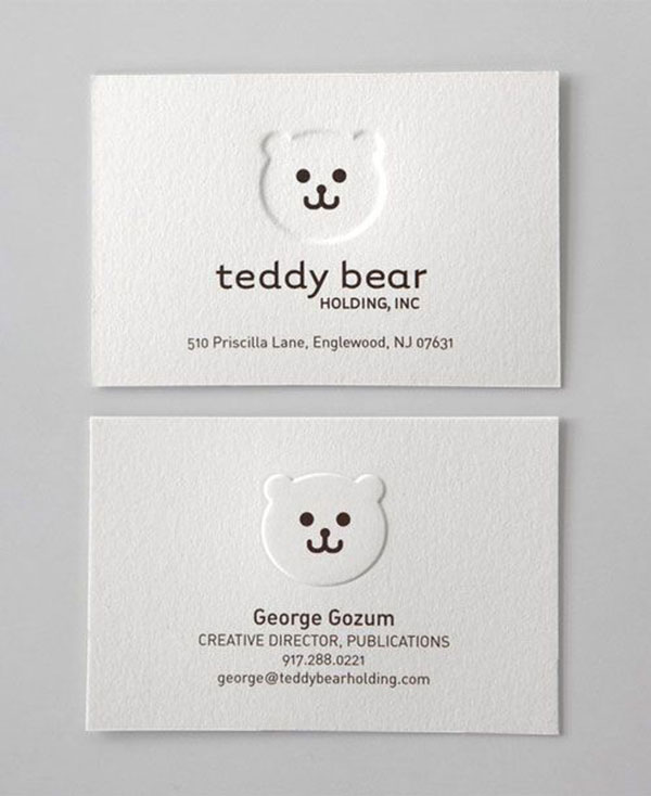 Business Card for: Teddy Bear We kid you not