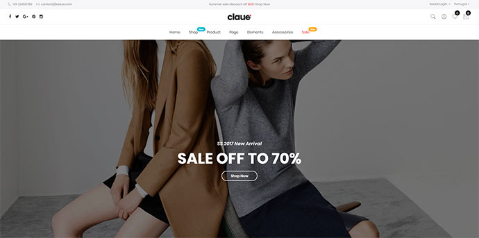 Claue - Clean, Minimal Magento 2 and 1 Theme