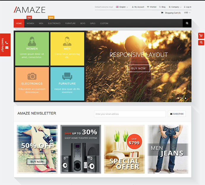 Amaze - Responsive Multipurpose Magento theme