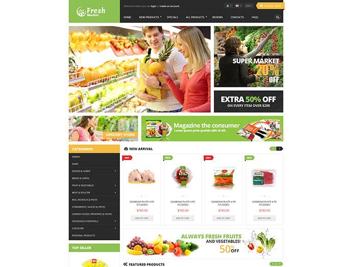Ves Freshmarket Responsive Magento Theme