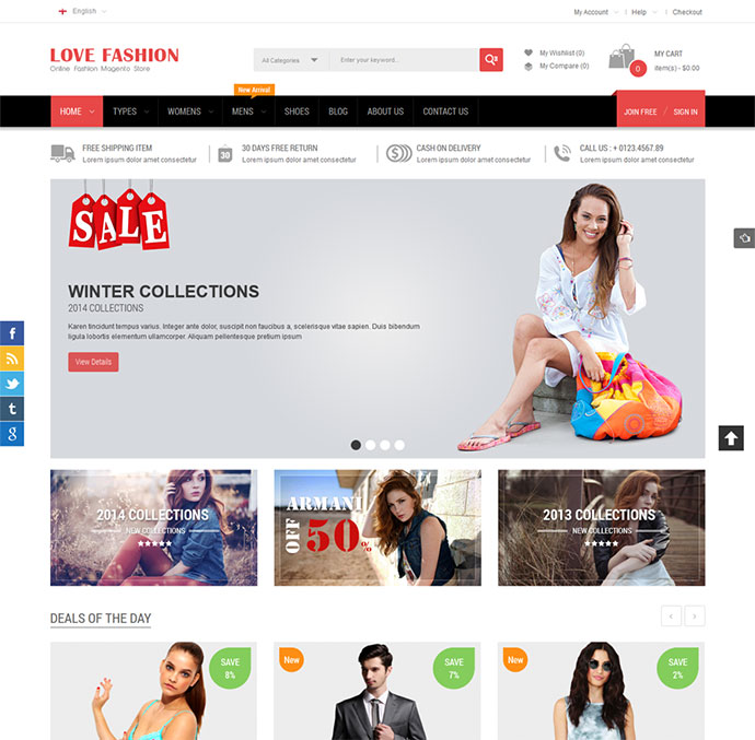 Love Fashion - Responsive Magento Fashion Theme