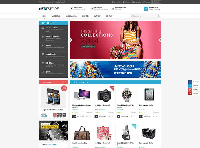 Venus Next Store Responsive Magento Theme