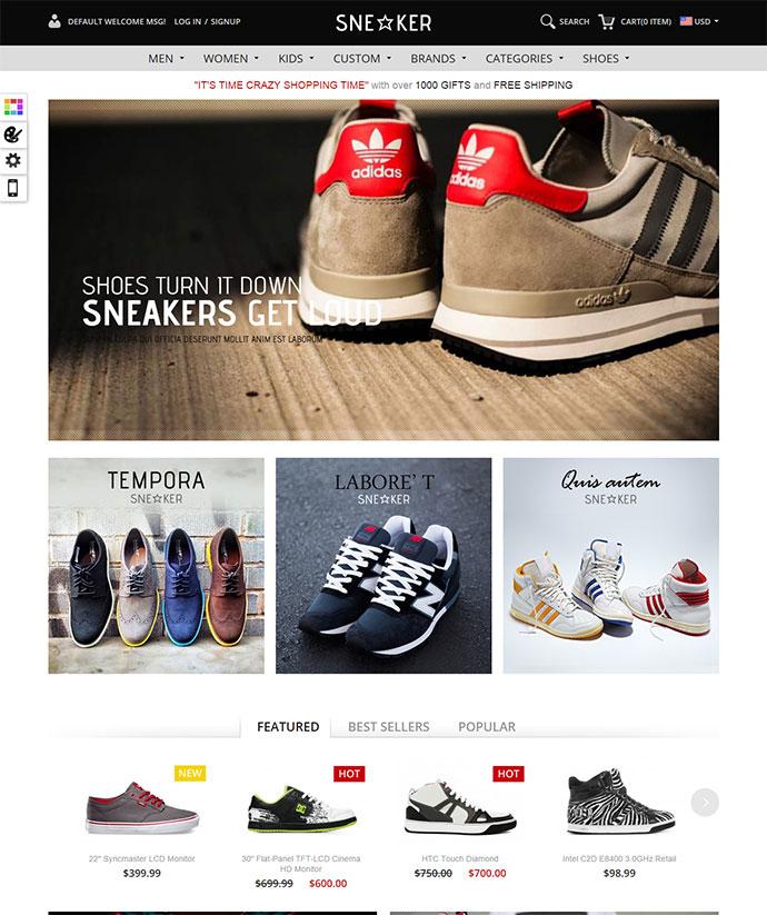 Responsive Magento Theme - Gala Sneaker