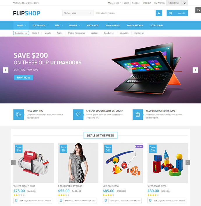 Flipshop - Multipurpose Responsive Magento Theme