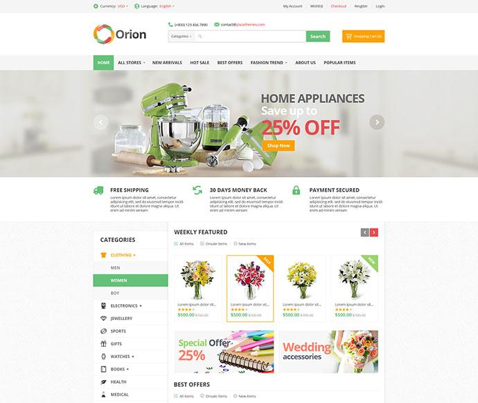 Orion - Mega Shop Responsive Magento Theme