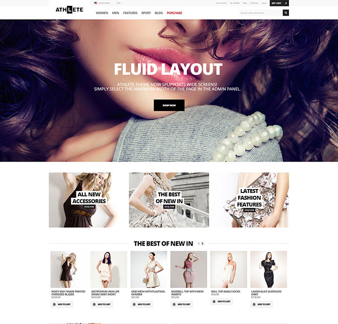 Athlete - Fluid Responsive Magento Theme