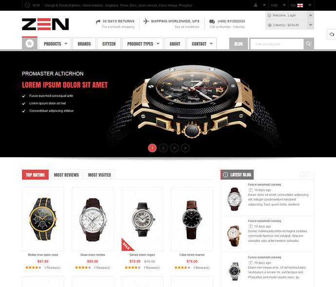 SM Zen - Responsive Multi-Store Magento Theme