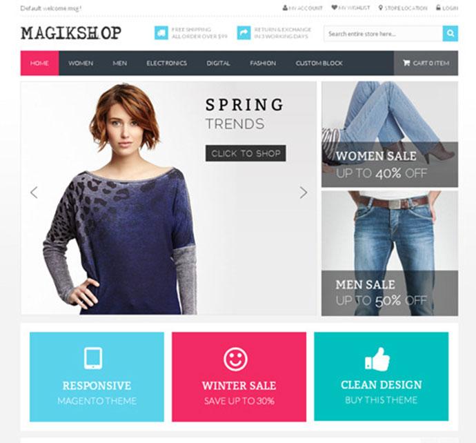Shop Responsive Magento Theme