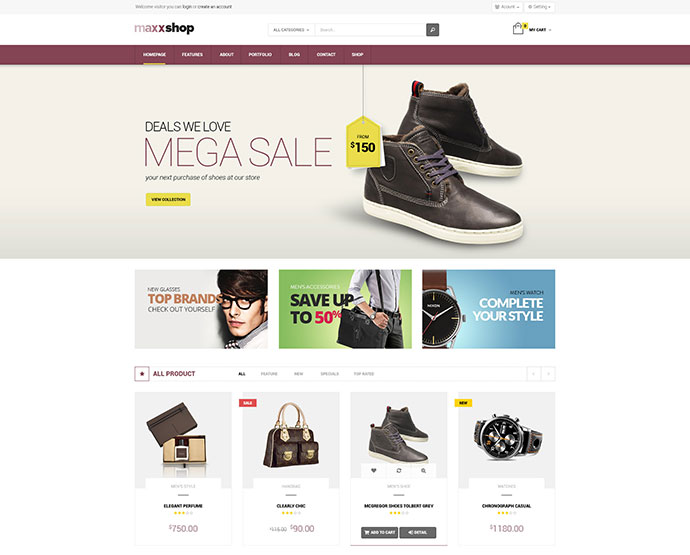 Maxx Shop Responsive Multipurpose Magento theme