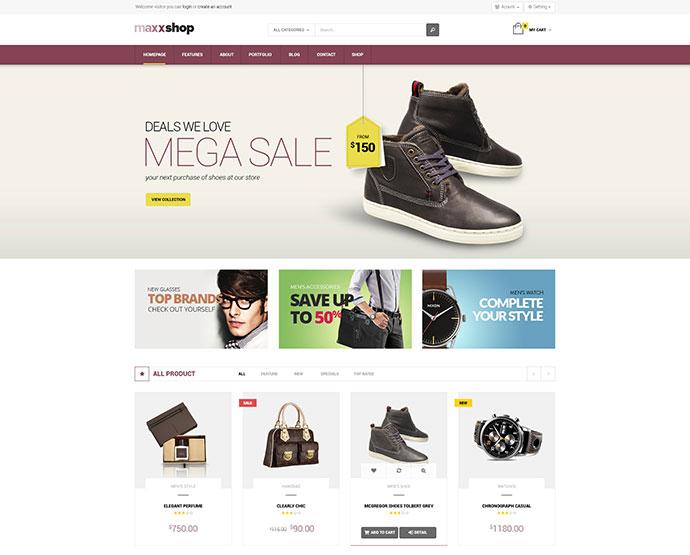 Maxx Shop Responsive Multipurpose Magento theme