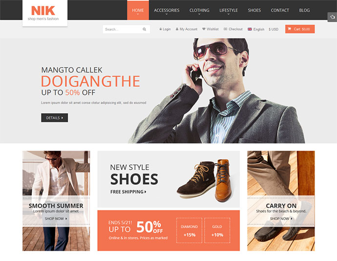 Nik - Responsive Magento Fashion Theme