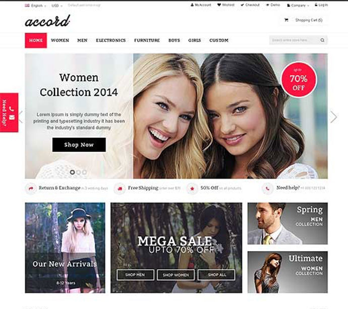 Accord - Responsive Multipurpose Magento theme