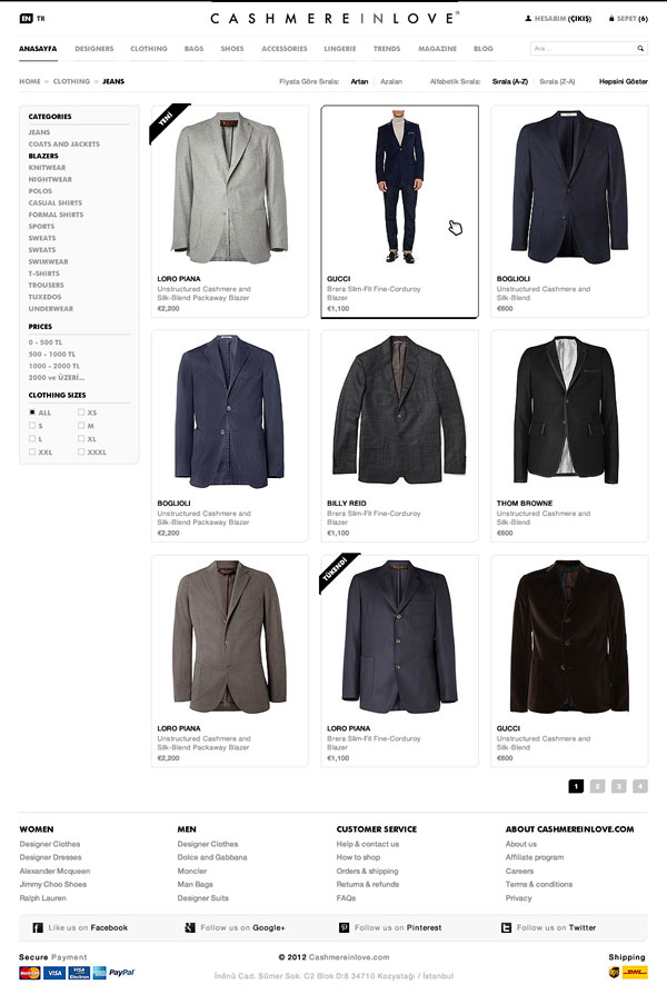 Clothing E-commerce Website