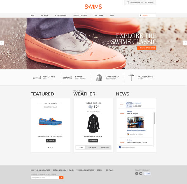 Swims website