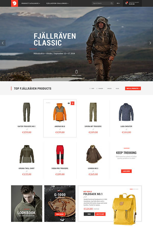 Fjällräven Re-Design Concept