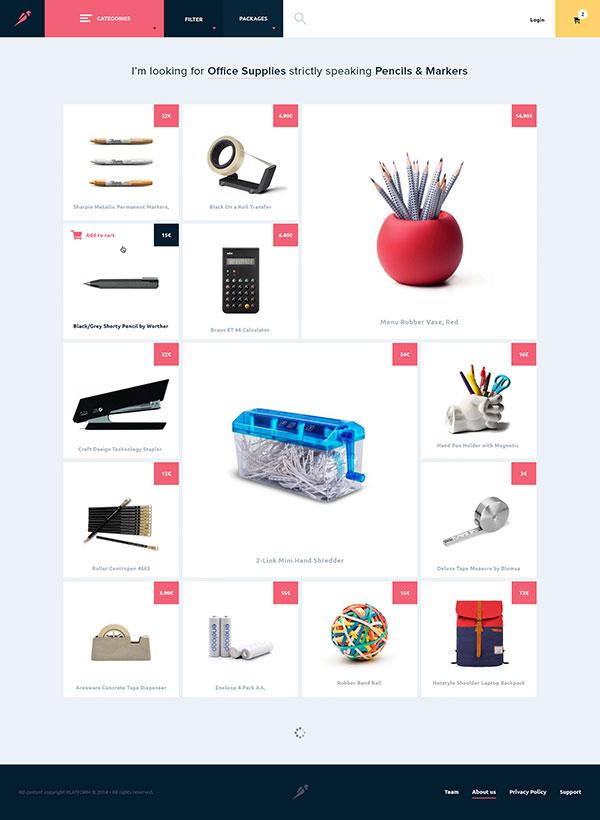 Clean e-commerce website