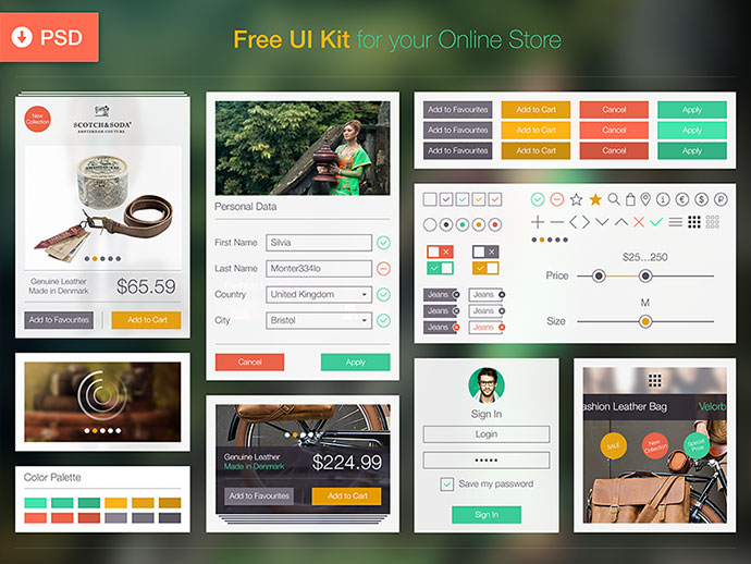 15 Psd Ui Kits For Modern Ecommerce Website Web