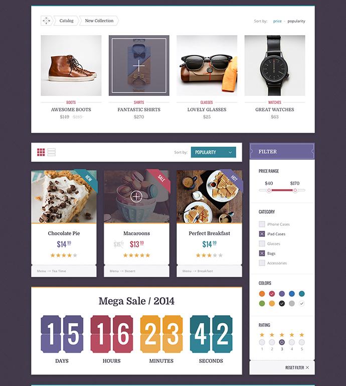 15 PSD UI Kits For Modern eCommerce Website