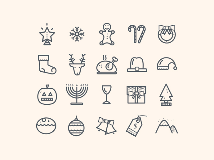 Christmas Holidays Icon.18 Christmas Icon Sets 2014 Bashooka