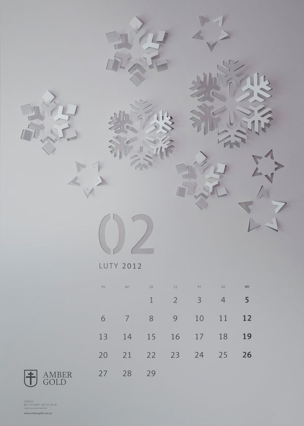 CUT OUT wall calendar