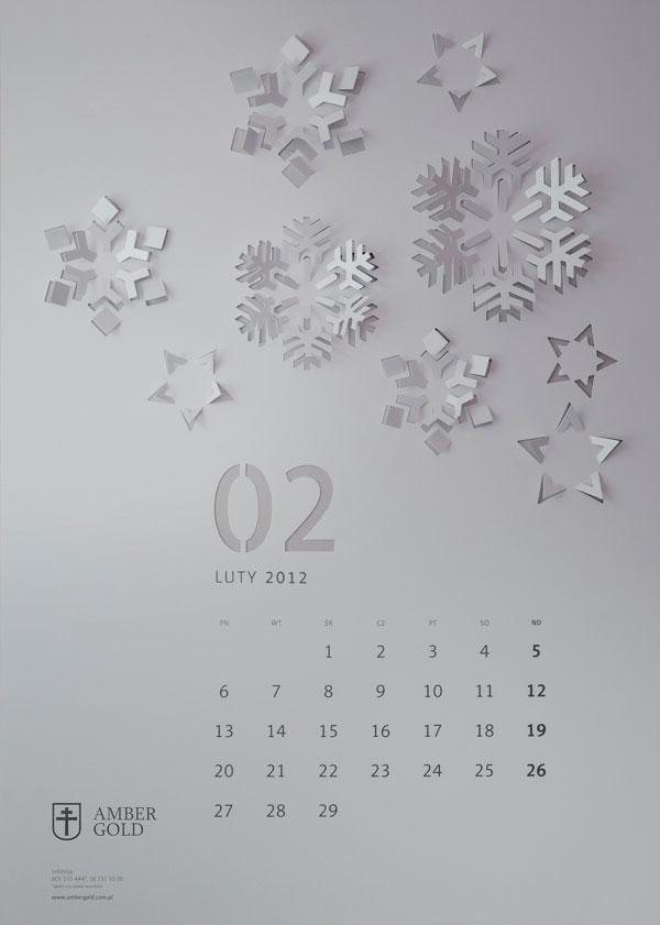 CUT OUT wall calendar