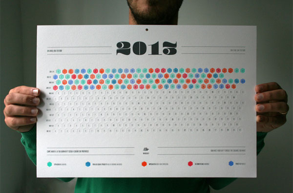 Calendar Inspiration 2015 : Super creative calendar designs for web