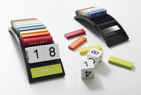 The design is a Calendar made for the table.