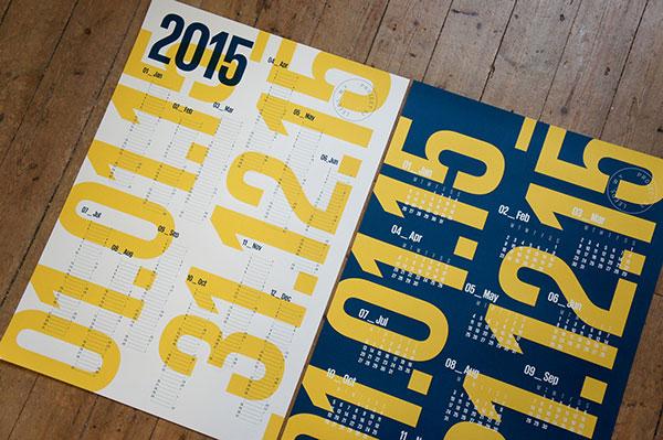 Screen-Printed Calendars